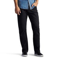 Men's Lee Extreme Motion Pants, Size: 31X30, Black