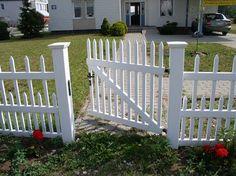 Декоративный забор для клумбы - доски ПВХ