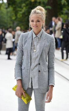 Gabriella Wilde in Burberry Spring Summer 2013 Womenswear Show - Arrivals