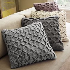 Sculpted Origami Pillow Cover - eclectic - pillows - West Elm