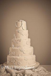 Lace Wedding Cake by Miss Ingredient, via Flickr