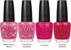 OPI - Minnie Mouse    I LOVE these!