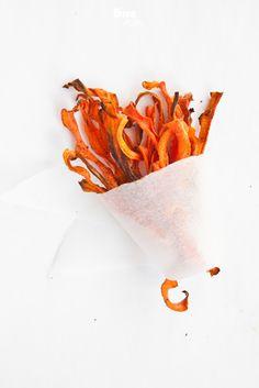 crispy carrot chips