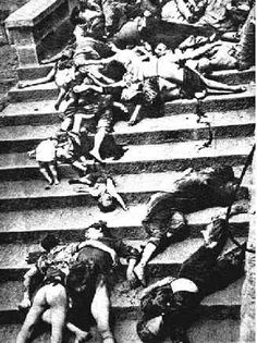 "Image from the 1937 ""Rape of Nanking"". One of the worst and darkest sides of humanity. The Japanese were ruthless when they invaded China in the second world war. Ruthless."