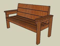 free printable wooden garden bench plans - Google Search