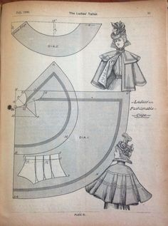 Capes and Mantles Ladies Fashion 1898-1901