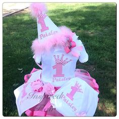 Custom Pink Princess Crown First Birthday by InspiredFlair on Etsy, $120.00