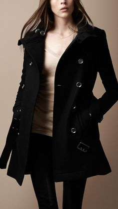 Burberry : FUNNEL NECK WOOL COAT.....My next purchase!