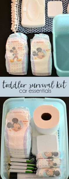 Essentials Every Mom of Toddlers NEEDS in Her Car // DIY toddler survival kit… {ad} #superabsorbent