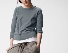 James Perce fleece sweatshirt