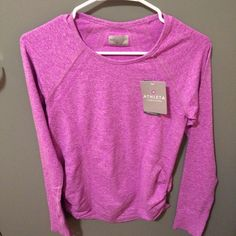 Womens athleta fastest track top Brand new, women's size small, athleta fastest track top in purple Athleta Tops Tees - Long Sleeve