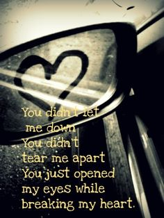You didnt do it for me I'm not as dumb as you think You just made me cry While claiming that you loved me...