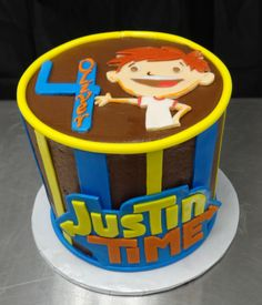 Justin Time Cake: Buttercream with fondant accents