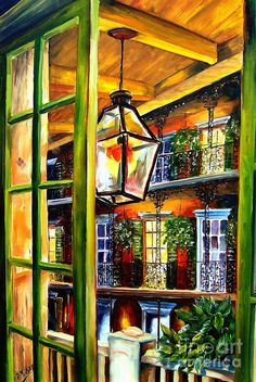 View From A French Quarter Balcony ~ Artist: Diane Millsap