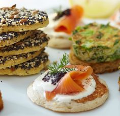 Hosting a party and need some gluten-free canapés? Try these gluten-free blinis with smoked salmon | Tesco