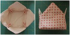 Mamma Gioca: Tutorial: come cucire un cestino di stoffa Fabric Boxes, Clutch, Diy Fashion, Pot Holders, Fashion Accessories, Sewing, Mamma, Baby, Gifts