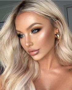 gold makeup 80 Top Rose Gold Make Up Ideas to Look Like a Goddess ~ makeupideas Bridal Makeup Looks, Wedding Makeup Looks, Natural Makeup Looks, Bride Makeup, Wedding Makeup Blonde, Bridal Makeup For Blondes, Romantic Wedding Makeup, Natural Wedding Makeup, Natural Make Up