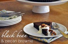 black bean & pecan brownie