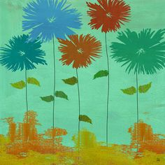 Family Flowers 1 Painting Print on Wrapped Canvas