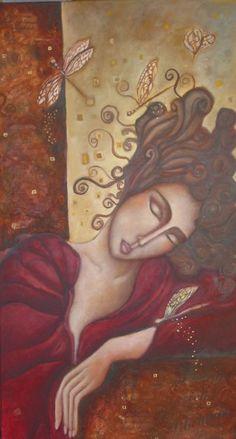 Painter Ingrid Tusell Domingo Mixed Media Figurative Art, Artist Study for   Art School Students, CAPI ::: Create Art Portfolio Ideas at milliande.com Art School Portfolio Work, Painting, People, Figurative