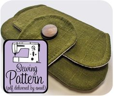Pocket Clutch PDF Sewing Pattern Email Delivery  by keykalou, $6.00