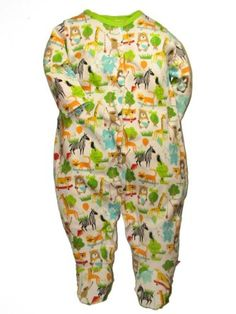Amazon.com: Unisex Baby / Infant What a Zoo Sleeper Footie by Zutano: Clothing