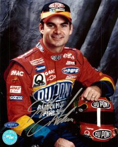 jeff gordon | Jeff Gordon autographed NASCAR 8x10