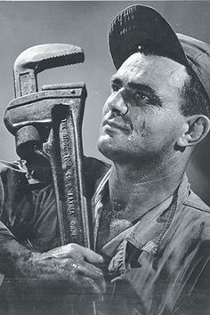 Bob McCormack was known for his portraits, including this one of an oilfield worker.