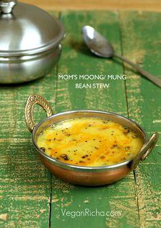 Split Mung Bean Soup – Mom's Simple Mung Dal with Garlic Chili Tadka. Vegan Glutenfree Recipe