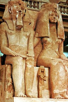 egypt-museum: Colossal Statue of Amenhotep III. - egypt-museum: Colossal Statue of Amenhotep III and Queen… - Ancient Egyptian Tombs, Egyptian Pharaohs, Ancient Art, Ancient History, Art History, European History, Pyramids Egypt, Luxor Egypt, Egypt Museum