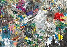 Amazing Pixel Art Posters by Eboy – Rabbleboy – Kenneth Lamug Author, Illustrator, Books, Film, Graphic Novels, Writing Pixel Art, Puzzle Store, Wassily Kandinsky Paintings, Canvas Art, Canvas Prints, Puzzle Art, Kunst Poster, Japan Post, Detail Art