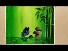 Step by Step Acrylic Painting on Canvas for Beginners/ Nature Scenery Painting/ Go Green Painting Acrylic Painting Trees, Bird Paintings On Canvas, Shadow Painting, Green Paintings, Art Painting Gallery, Simple Acrylic Paintings, Diy Canvas Art, Nature Paintings, Beautiful Paintings