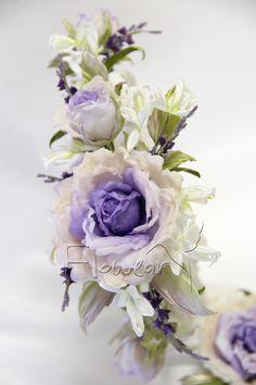 """Комплект """"Chloe"""" - венок на голову и бутоньерка на ручку. Цветы из шелка ручной работы Лилии Марченко. Silk flowers."""