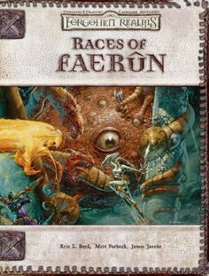 Races of Faerûn (3.5) - Forgotten Realms | Book cover and interior art for Dungeons and Dragons 3.0 and 3.5 - Dungeons & Dragons, D&D, DND, 3rd Edition, 3rd Ed., 3.0, 3.5, 3.x, 3E, d20, fantasy, Roleplaying Game, Role Playing Game, RPG, Open Game License, OGL, Wizards of the Coast, WotC, TSR Inc. | Create your own roleplaying game books w/ RPG Bard: www.rpgbard.com | Not Trusty Sword art: click artwork for source