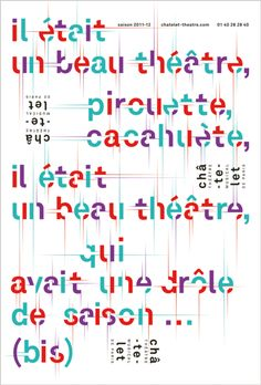 Poster by the french graphic designer Phillipe Apeloig #apeloig #typography #poster