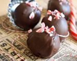 Decadent chocolate mint cake truffles