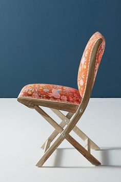 Jimena Terai Folding Chair By Anthropologie In Orange Size
