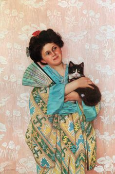 Charles Spencelayh (October 27, 1865 – June 25, 1958) A Japanese Beauty