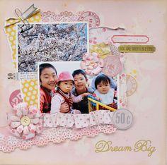 Dream Big by:スクラップブッキング工房 くろっぷ・あん #スクラップブッキング