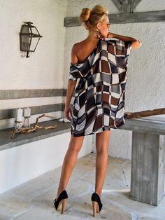 Satén suelto Vestido de túnica / verano flojo vestido