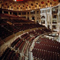 Sad. Uptown Theatre, Chicago.  I'd like to visit this abandoned and decrepit theatre in Chicago. I wish it could be restored.