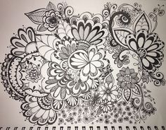 Today's doodle! #doodle #sharpie #floral #stylus #zentangle #draw Amy Raymond
