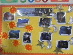 Light and Dark Display, classroom display, class display, sun and moon, star, light, dark, day, night, Early Years (EYFS), KS1 & KS2 Primary Resources