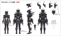 FFXIV Character concept art.