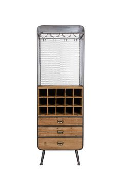 Add a Vintage, urban style with Foxford Furniture. Our Vino Cabinet will make entering family and friends a pleasure. Is it the drinks cabinet you always wanted…… Fast Delivery within Ireland & Northern Ireland Bar Armoire, Bar A Vin, Vintage Industrial Decor, Drinks Cabinet, Liquor Cabinet, Glass Rack, Wine Cabinets, Bottle Holders, Interior Accessories