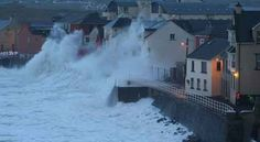 Lahinch in Co Clare during the 2014 storms.