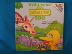 vintage 1988 A Visit to the Sesame Street Zoo book by Ellen Weiss by TheVintageKeepers on Etsy