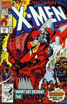 The Uncanny X-Men #284 : Into the Void (Marvel Comics) by John Byrne,  http://www.amazon.com/The-Uncanny-X-Men-284-Marvel/dp/B000MFBFWK/ref=sr_1_1?m=A3030B7KEKNTF7&s=merchant-items&ie=UTF8&qid=1394577768&sr=1-1&keywords=The+Uncanny+X-Men+%23284