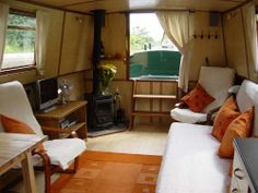 Saloon on Narrowboat