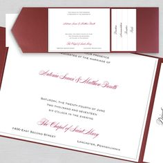 Thermo Simple Elegance - Layered Pocket Invitation